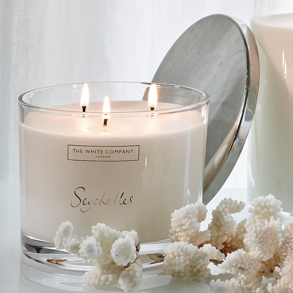 Seychelles Large Candle by The White Company