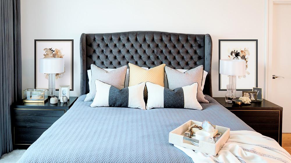 Master Bedroom in a Penthouse Apartment. Interior Design by Vesta Design.