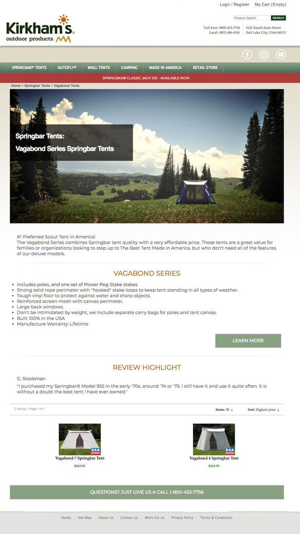 KIRKHAMS WEBSITE / CATEGORY PAGE