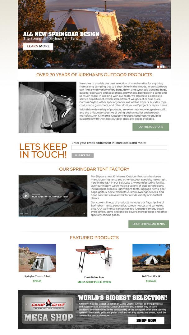 KIRKHAMS WEBSITE / HOME PAGE