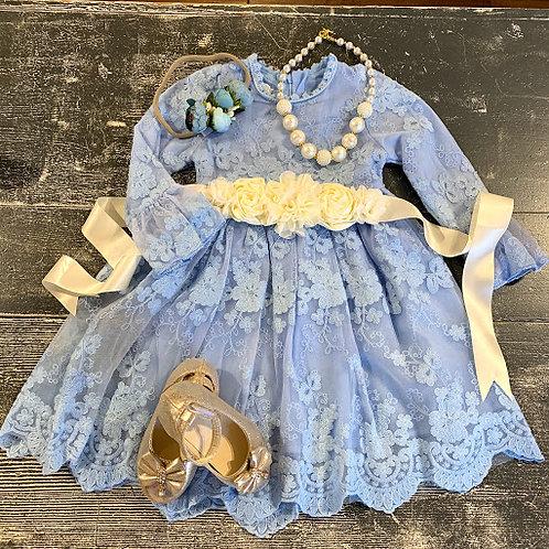 Lilac Blue Lace Dress