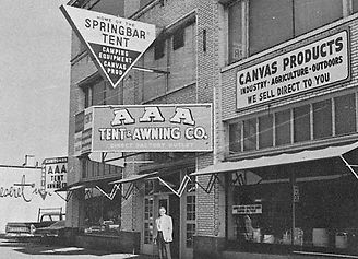AAA Tent  Awning in the 1960s.jpg