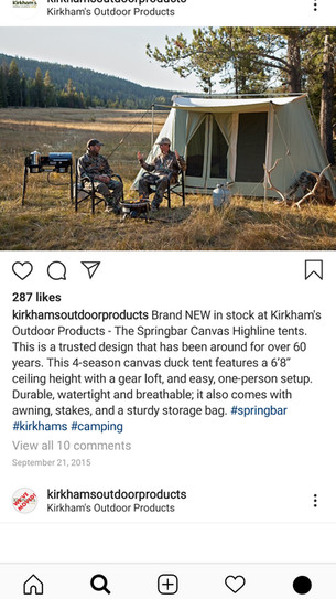 Kirkhams Instagram Page