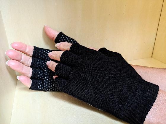 Gant noir avec boutons antidérapant de couleur