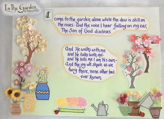 In the garden hymn Son of God Walks Talks tells flowers gifted quote