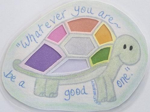 GQ1 Turtle~Abraham Lincoln quote w/Swarovski crystals