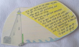 Lighthouse candle in the water Pete's Dragon Disney movie ocean gifted quote