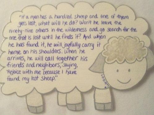 GQ105 Sheep~Luke 4:7