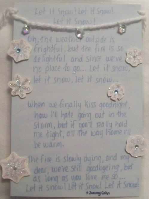 GQ109 Snow~Lyrics to song Let it Snow!Let it Snow! Let it Snow!