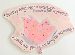 St. Francis of Assisi Butterfly impossible possible necessary gifted quote