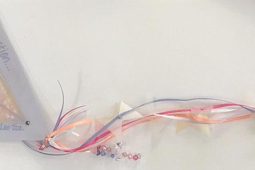 GQ19 Kite~ Lao Tzu quote w/ Swarovski crystals