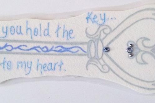 GQ122 Key~Key to my heart w/Swarovski crystals
