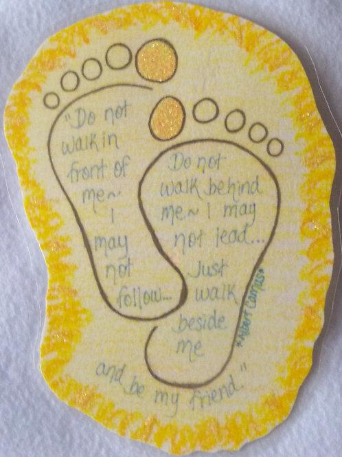 GQ11 Footprint~Albert Camus quote