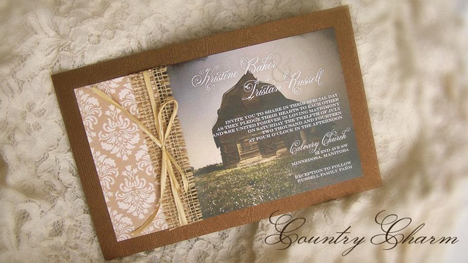 Country Charm - Invitation