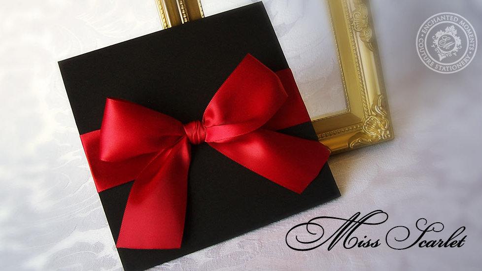Miss Scarlet - Invitation