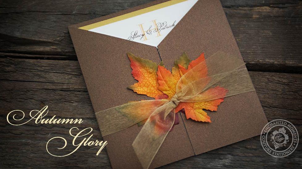 Autumn Glory - Invitation