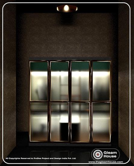4 Door Glass Wardrobe- G.H.-01