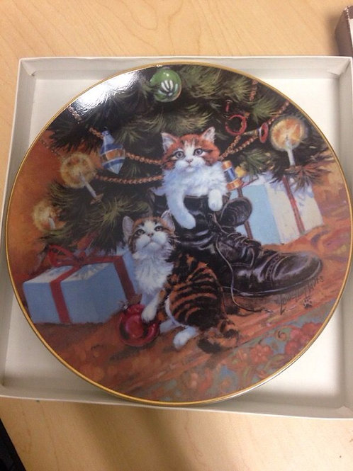 Lowell Davis Country Christmas Collectable Plate 1984