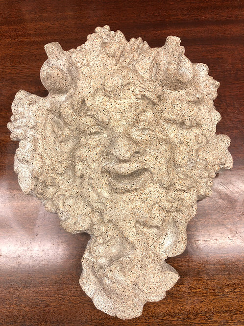 Mythical Face Stone Sculpture Wall Decor