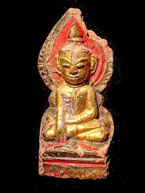 15th century Terracotta Buddha Hand Painted Spiritual Relic 🇲🇲From Burma