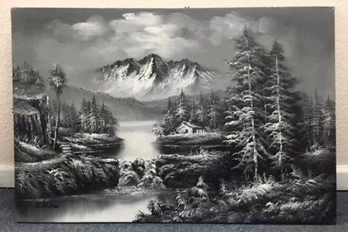 Signed R. Boren Original oil painting