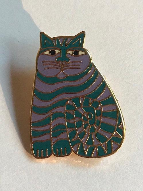 Cloissone Cat Pin