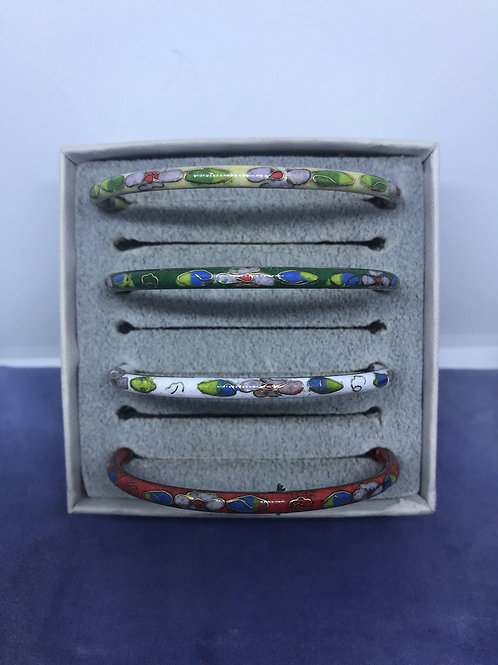 Cloisonne Enamel Bangle Bracelets