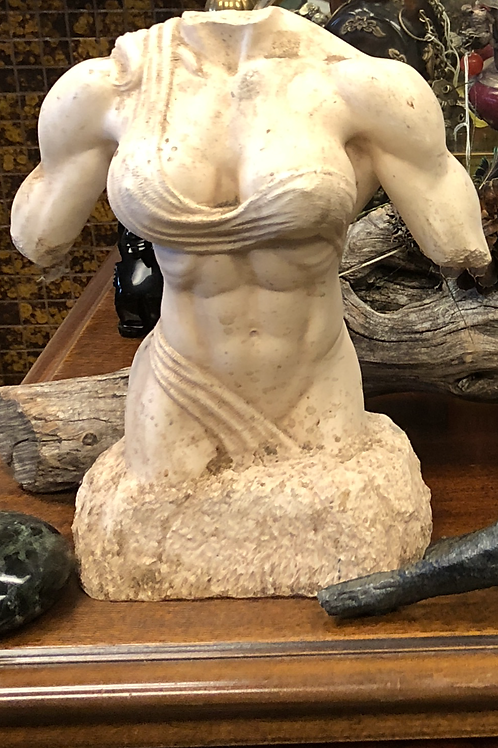 Woman bodybuilder statue signed by Neil Andersen