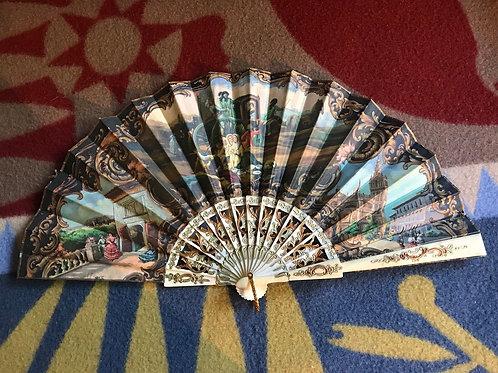 Casa De Diego Madrid Spain Vintage Hand Painted Folding Fan