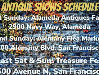 Our 2018 Antique Shows Schedule