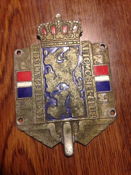 Kon Nederlandsche Automobiel Club - Netherlands Car Badge