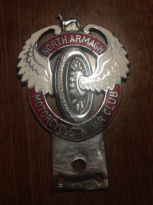 North Armagh Motorcycle and Car Club Car Badge