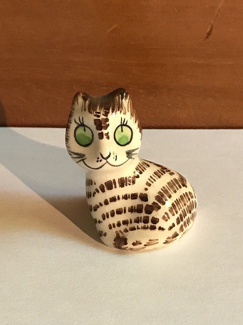 Small Tabby Cat Figurine