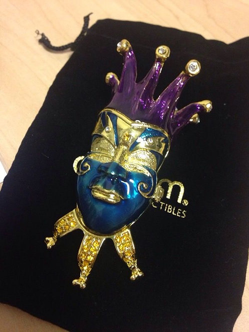 New in Box City of Masks Mardi Gras Jeweled Trinket Box
