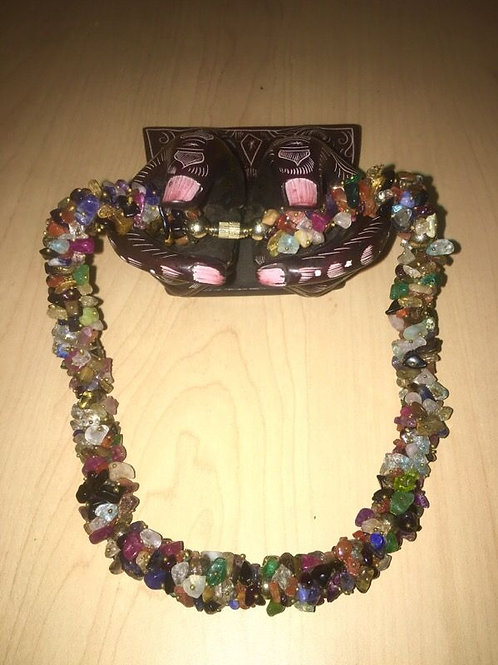 Handmade semi-precious gemstone necklace