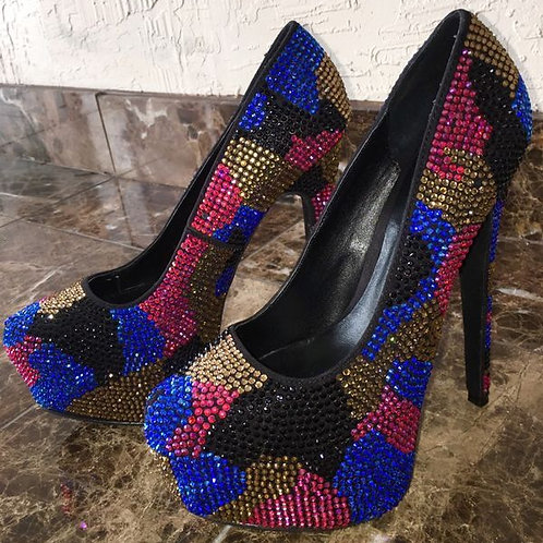 Steve Madden Dyvinal Camoflauge Multi-Color stilettos pumps size 7