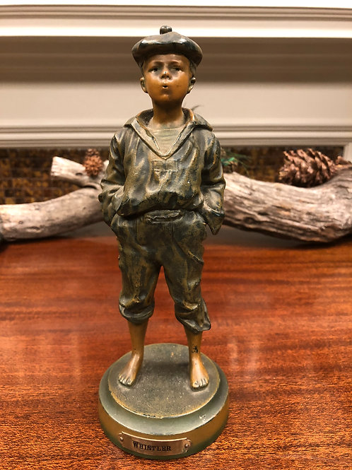 "Authentic Bronze ""Whistler"" Statue"