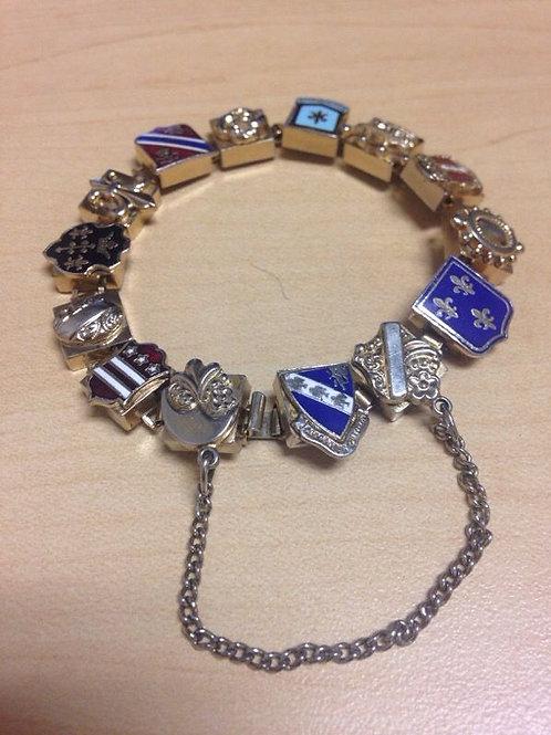 European Crest Bracelet w/ Safety Chain
