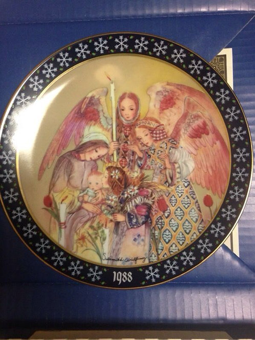 "Königszelt Bayern ""Die Huldigung Der Engel"" 1988 Christmas Collectors Plate"