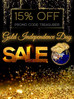 Gold Independence Day Sale!