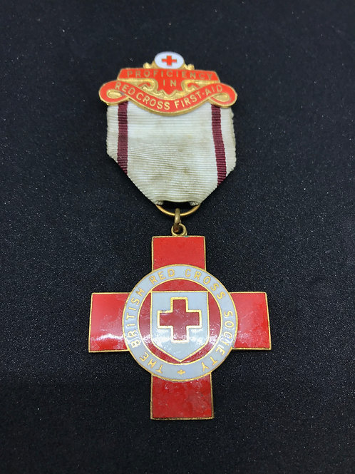 The British Red Cross Society Proficiency In First Aid Pin 1930s