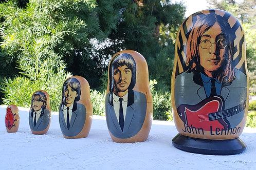The Beatles John Lennon Hand Painted Nesting Dolls