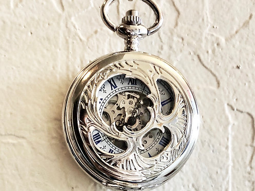 Mechanical Skeleton Classic Hand Wind Pocket Watch