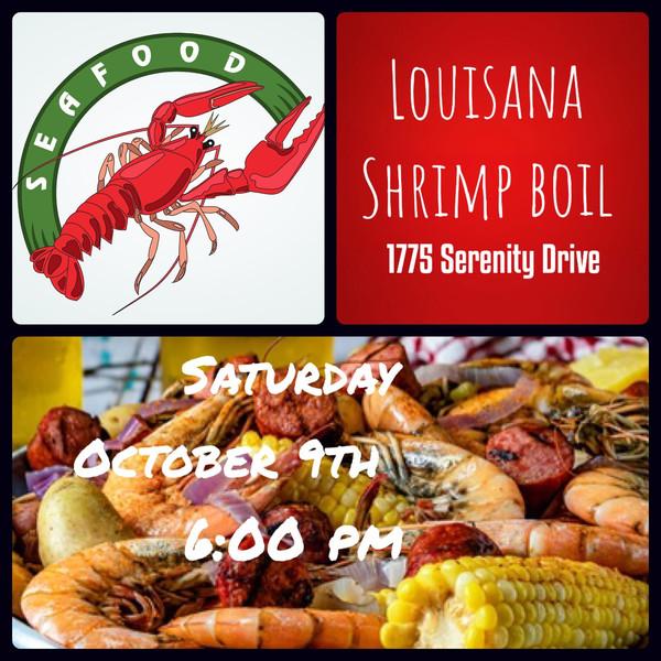 October 9th Louisiana Shrimp Boil Professionals Event at Sinclair's 6pm