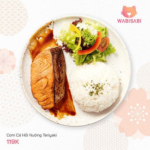 Cơm Cá Hồi Nướng Teriyaki