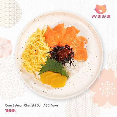 Cơm Salmon Charishi Don hoặc Sốt Yuke