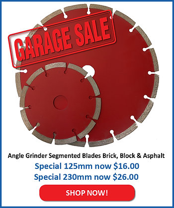 Red Angle Grinder Blades for Brick/Block/GreenConc