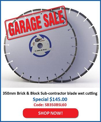 350mm Brick & Block Blade - Sub Contractor