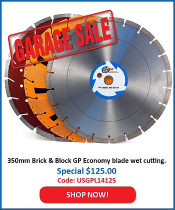 350mm Brick & Block Blade - Economy