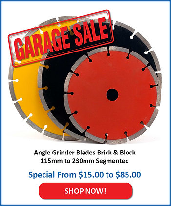 Angle Grinder Blades Brick & Block 115mm to 230mm